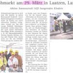 Bericht über den Flohmarkt Lange Weihe, Laatzen - 29.03.2011
