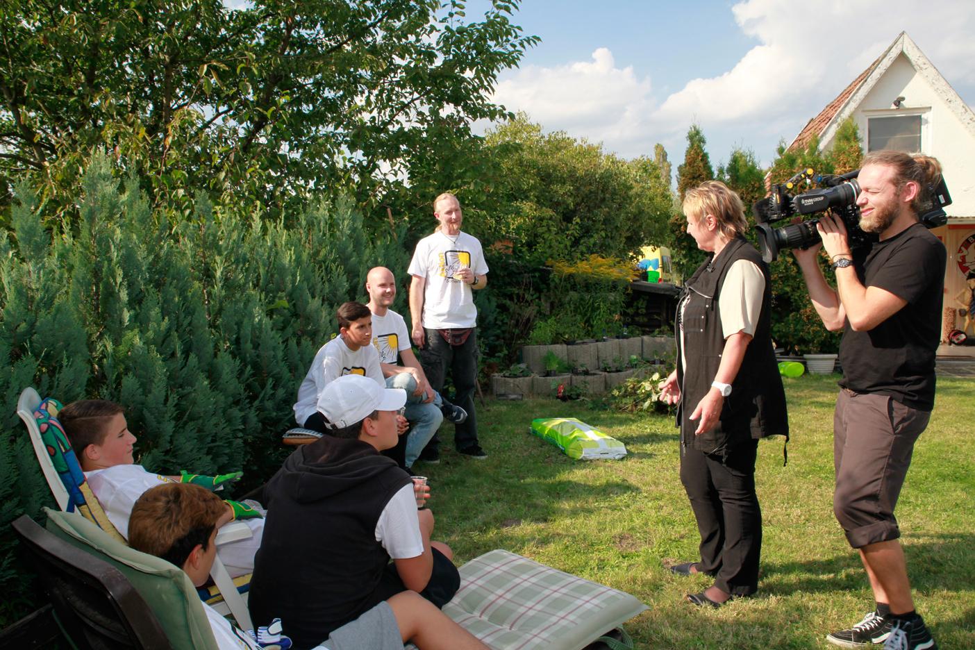 Auch RTL berichtete über die Garten Aktion.
